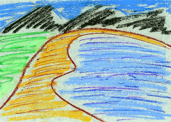 Pastels Greeting Card featuring the painting Bay by Hakon Soreide