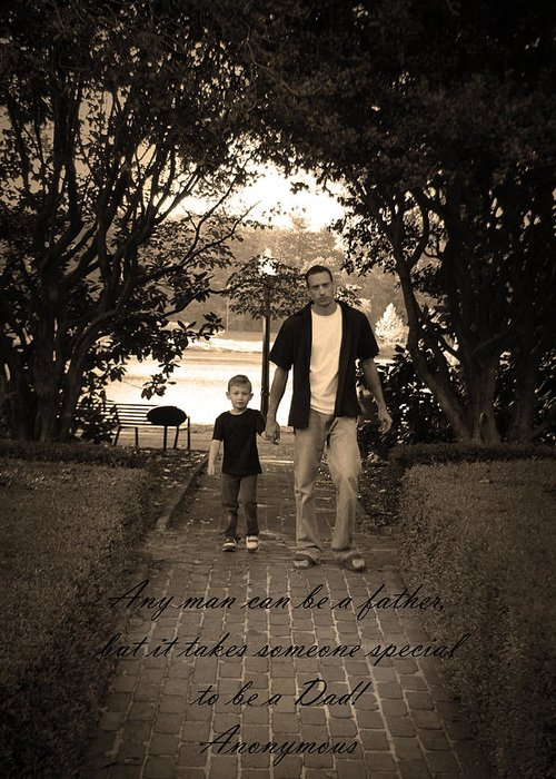 Art Greeting Card featuring the photograph Be A Dad by Kelly Hazel