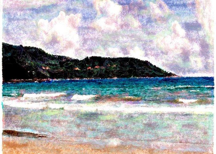 Beach Greeting Card featuring the digital art Beach 1 by Joseph Contello