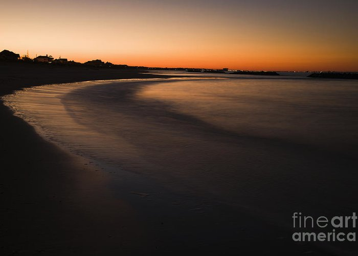 Apartment Greeting Card featuring the photograph Beach At Sunset by Roberto Westbrook