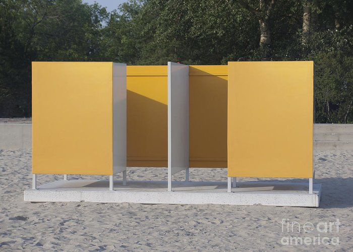 Beach Greeting Card featuring the photograph Beach Dressing Rooms by Jaak Nilson
