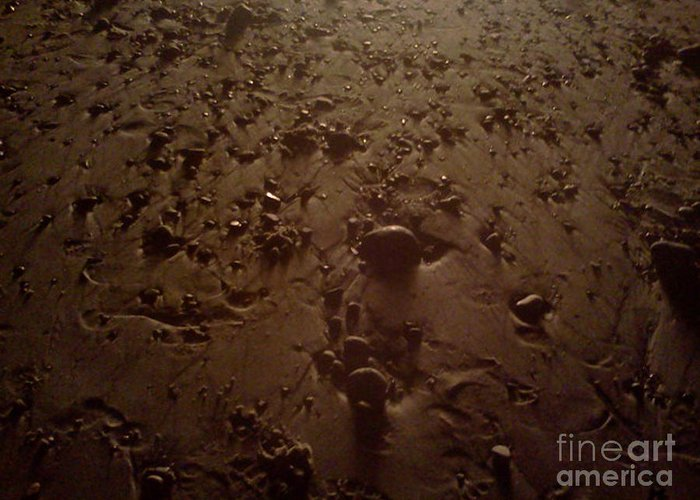 Beaches Greeting Card featuring the photograph Beach Stones At Night by Wendy Marelli