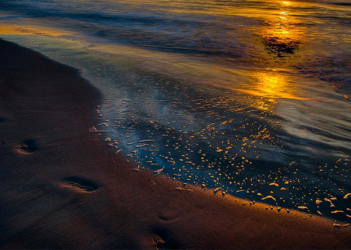 Sunrise Greeting Card featuring the photograph Beach Walk - Part 4 by Dennis Dame
