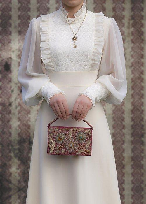 Woman Greeting Card featuring the photograph Beaded Handbag by Joana Kruse
