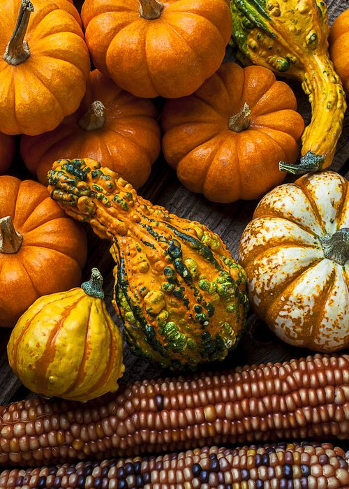 Gourd Greeting Card featuring the photograph Beautiful Autumn by Garry Gay