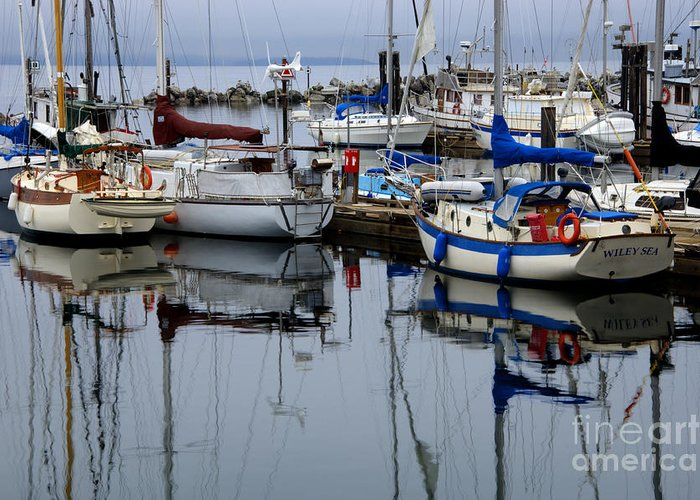 Fishing Boats Greeting Card featuring the photograph Beauty Of Boats by Bob Christopher