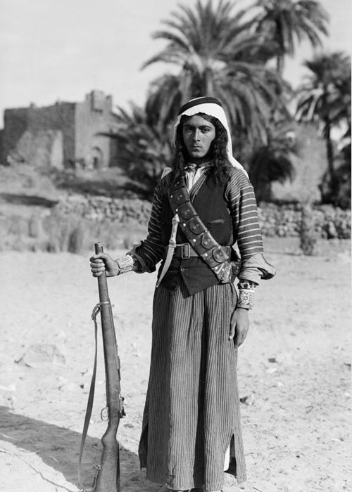 1926 Greeting Card featuring the photograph Bedouin Youth, C1926 by Granger