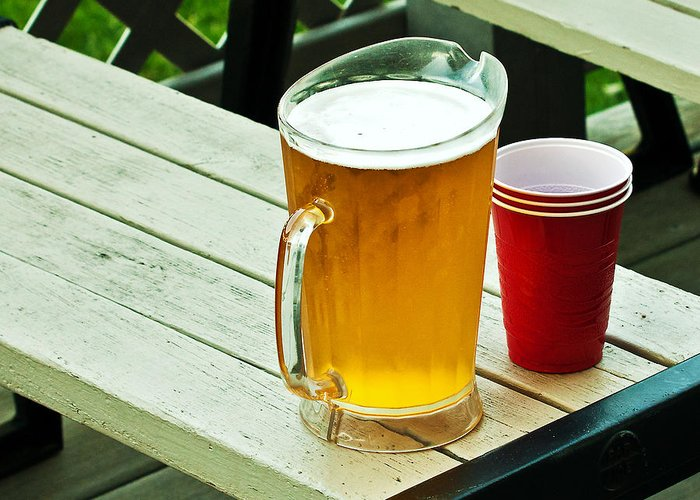 Beer Greeting Card featuring the photograph Beer 30 Now by Edward Peterson