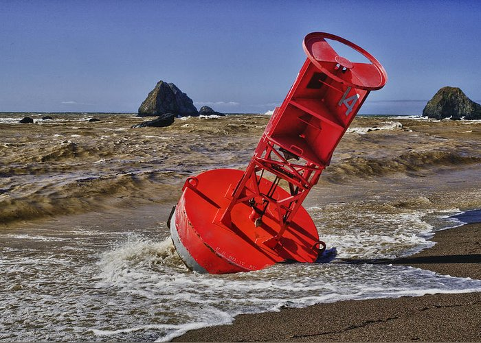 Bell Buoy Greeting Card featuring the photograph Bell Buoy by Garry Gay