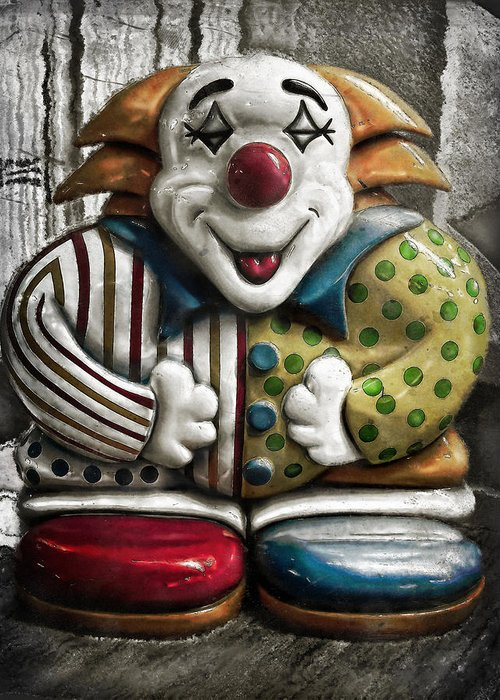 Clown Greeting Card featuring the photograph Belly Laugh by Colleen Kammerer