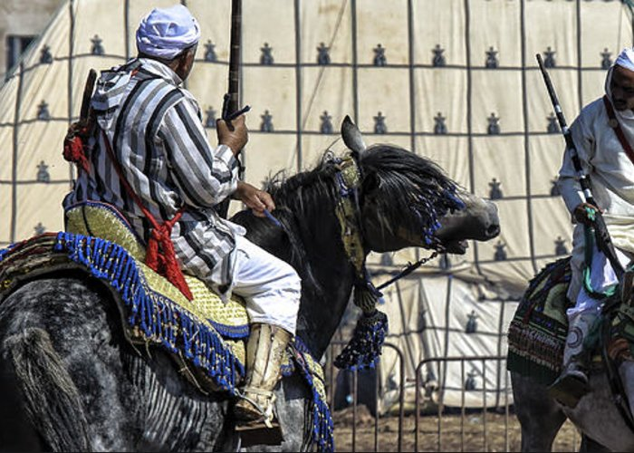 Morocco Greeting Card featuring the photograph Berber Festival by Chuck Kuhn