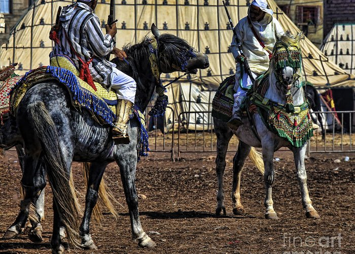Morocco Greeting Card featuring the photograph Berbers Morocco by Chuck Kuhn