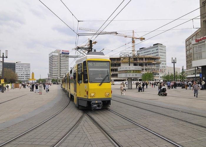 Alexanderplatz Greeting Card featuring the photograph Berlin Alexanderplatz Square by Matthias Hauser