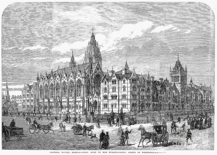 1869 Greeting Card featuring the photograph Bethnal Green Market, 1869 by Granger