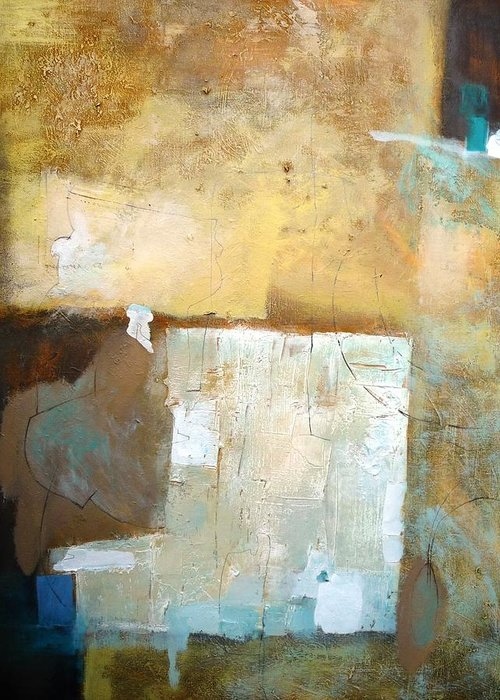 Abstract Greeting Card featuring the painting Better Than... by Teofana Zaric