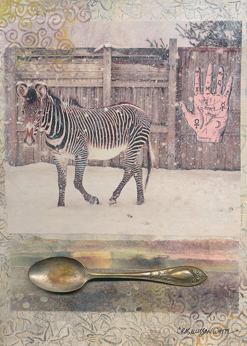 Circus Greeting Card featuring the painting Between The Lines by Casey Rasmussen White