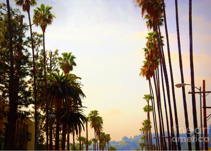 Beverly Hills Greeting Card featuring the photograph Beverly Hills In La by Susanne Van Hulst