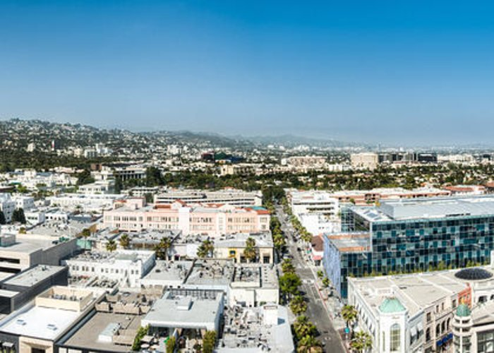America Greeting Card featuring the photograph Beveryly Hills Panoramic by Josh Whalen