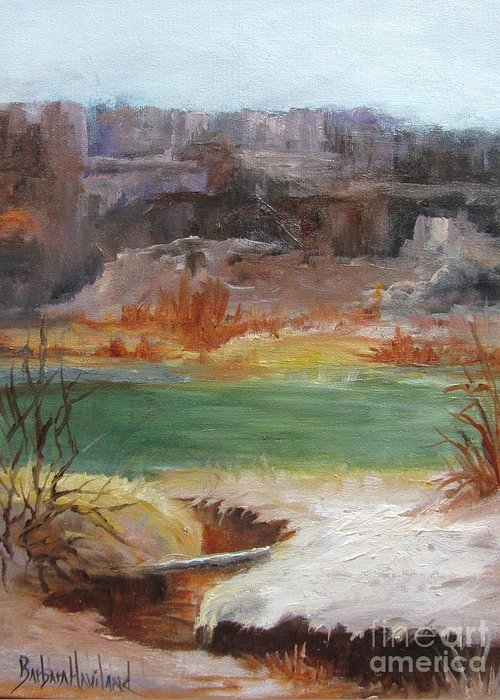 Big Bend National Park Greeting Card featuring the painting Big Bend Landscape by Barbara Haviland