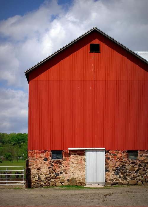Red Barn Greeting Card featuring the photograph Big Red by Linda Mishler
