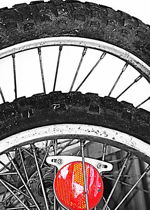 Elm Greeting Card featuring the photograph Big Wheels Keep On Turning by Jerry Cordeiro