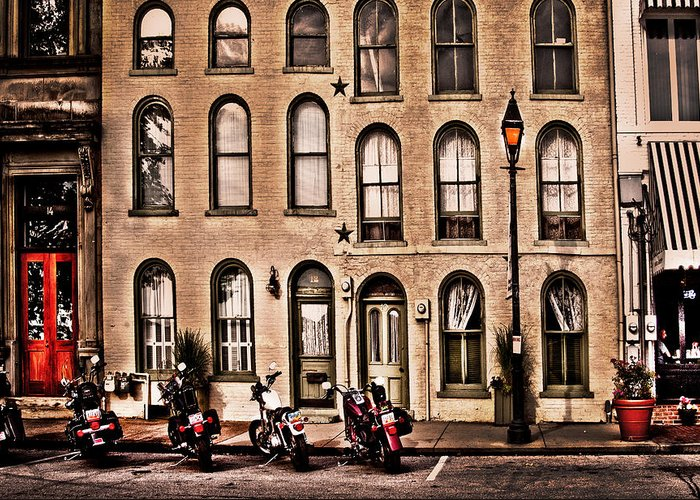 Bikers Greeting Card featuring the photograph Bikers Rest by Randall Branham