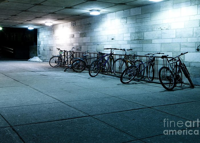 Bikes Greeting Card featuring the photograph Bikes by Igor Kislev