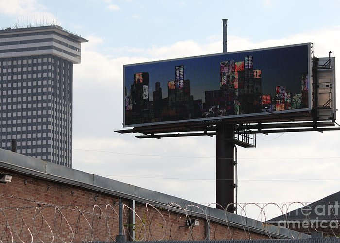 Billboard Art Greeting Card featuring the photograph Billboard Art Project 2011 by Andy Mercer
