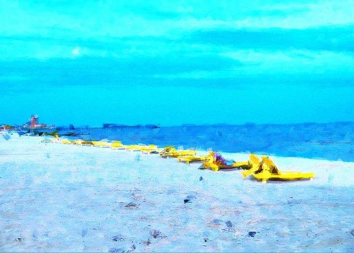 Beach Greeting Card featuring the photograph Biloxi Beach by Scott Crump