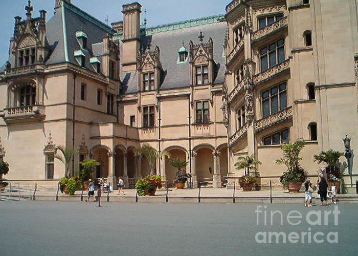 Biltmore House Greeting Card featuring the photograph Biltmore House by Terry Hunt