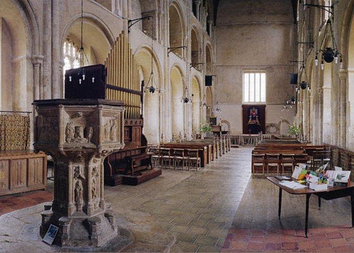 Church Greeting Card featuring the photograph Binham Priory by Jan W Faul