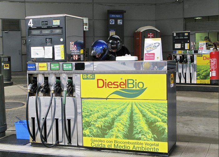 Fuel Greeting Card featuring the photograph Biodiesel Fuel Pump by Ria Novosti