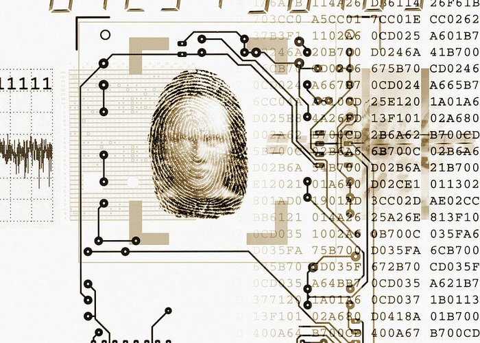 Technology Greeting Card featuring the photograph Biometric Identification by Mehau Kulyk