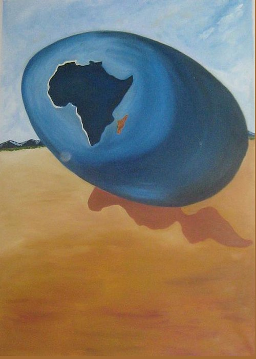 Africa Greeting Card featuring the painting Birth by Jayanth Kumar