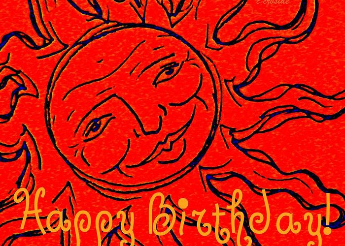 Birthday Greeting Card featuring the photograph Birthday One by Chris Berry