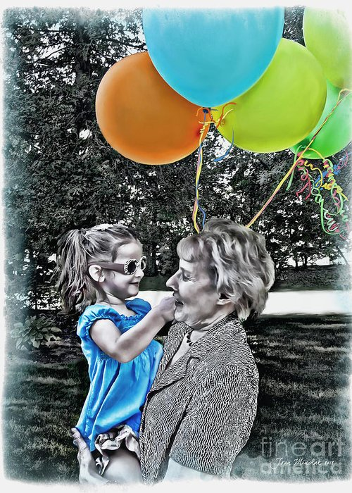 Birthday Party Greeting Card featuring the photograph Birthdays by Joan Minchak