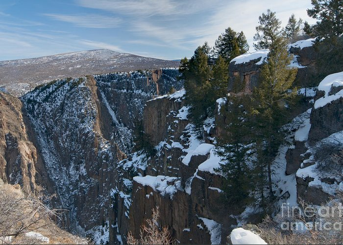 Color Landscape Photography Greeting Card featuring the photograph Black Canyon Of The Gunnison by David Waldrop