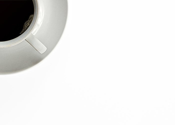 Au Lait Greeting Card featuring the photograph Black Coffee by Gert Lavsen