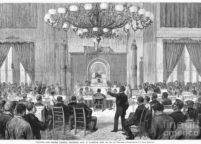 1876 Greeting Card featuring the photograph Black Convention, 1876 by Granger