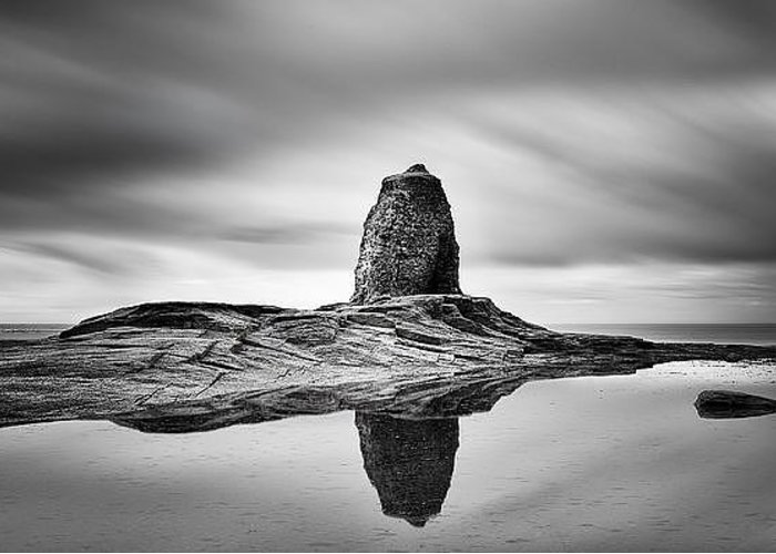Mono Greeting Card featuring the photograph Black Nab Whitby by Ian Barber
