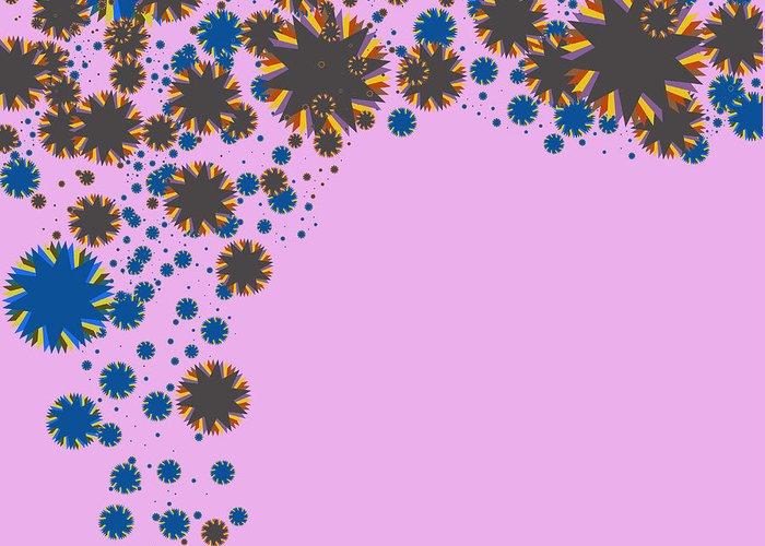 Allure Greeting Card featuring the digital art Blades On Purple by Atiketta Sangasaeng
