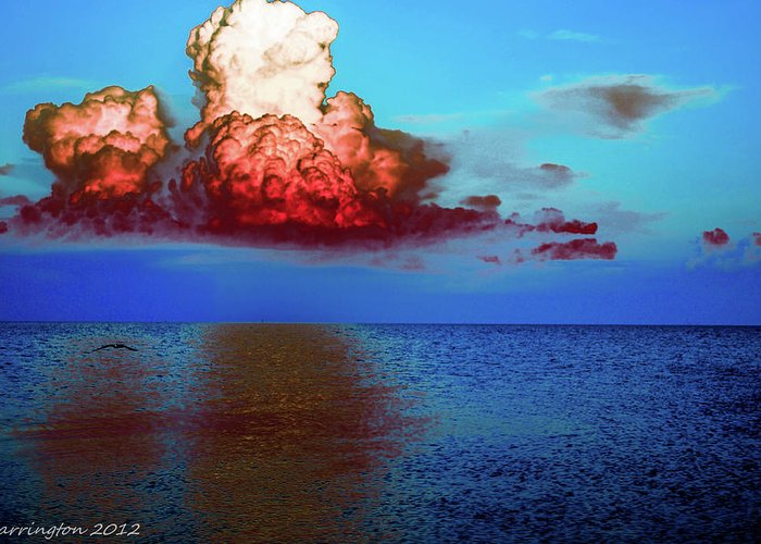 Colorful Greeting Card featuring the photograph Blood Red Clouds by Shannon Harrington