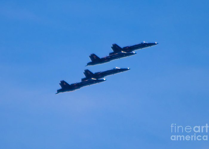 Blue Angels Greeting Card featuring the photograph Blue Angels 16 by Mark Dodd