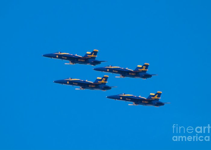 Blue Angels Greeting Card featuring the photograph Blue Angels 25 by Mark Dodd