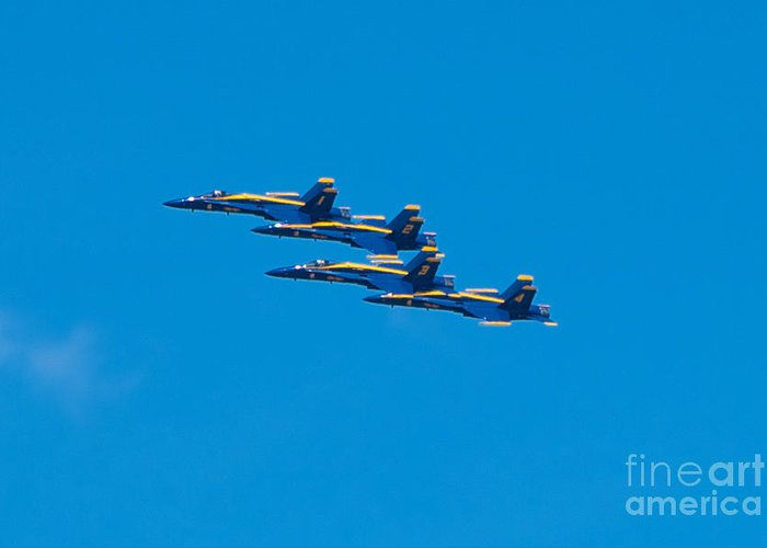 Blue Angels Greeting Card featuring the photograph Blue Angels by Mark Dodd