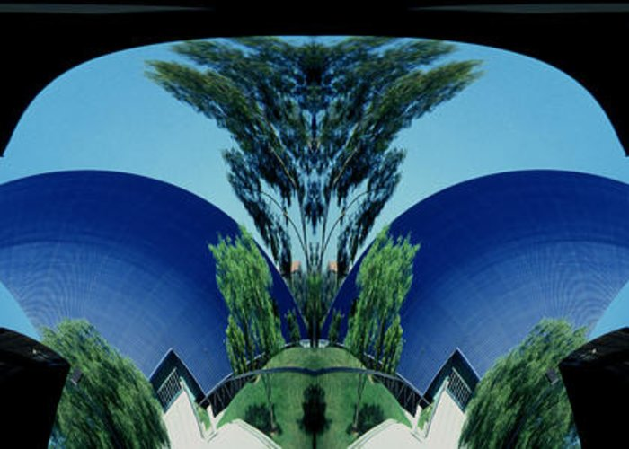 Abstract Greeting Card featuring the photograph Blue Arches by Paul W Faust - Impressions of Light