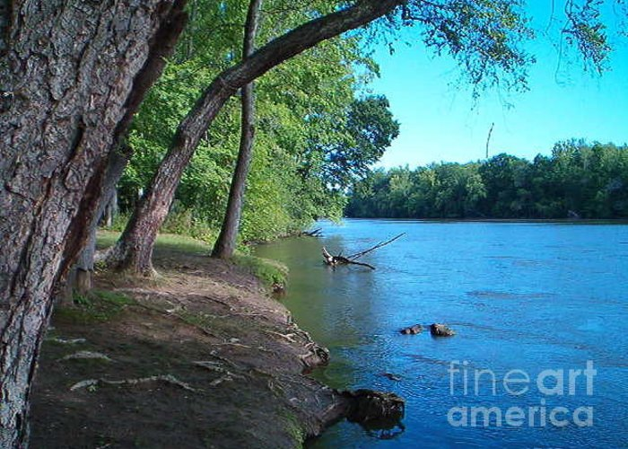 Catawba River Greeting Card featuring the photograph Blue Catawba by Terry Hunt
