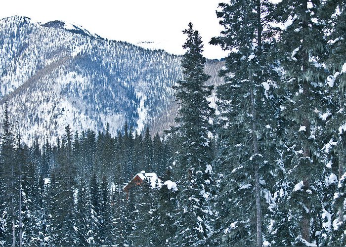 Landscape Greeting Card featuring the photograph Blue Green Mountain by Lisa Spencer