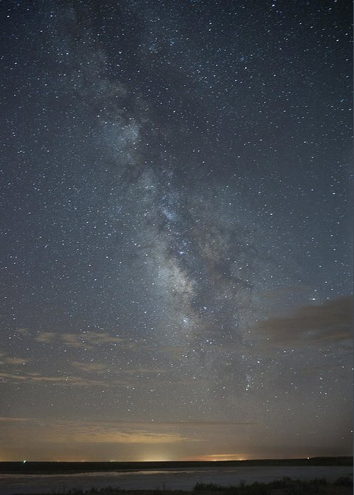 Beauty In Nature Greeting Card featuring the photograph Blue Milky Way by Melany Sarafis