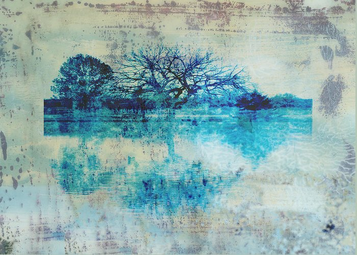 Blue Greeting Card featuring the photograph Blue On Blue by Ann Powell